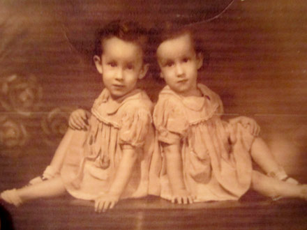 The twins as young girls.